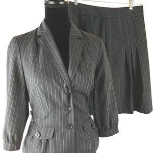 Banana Republic Wool Blend Skirt Suit